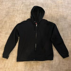 Other - Hanes black zip up hoodie